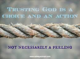 trusting god is an action
