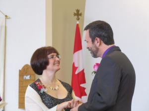 My parents renewing their vows for their 25th wedding anniversary.