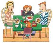Family eating together